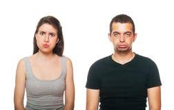 有变元的夫妇不快乐的年轻人 库存图片