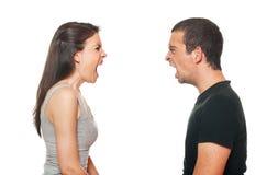 有变元的夫妇不快乐的年轻人 图库摄影