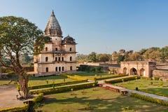 有古老大厦的绿色公园在印度 图库摄影