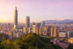 有台北101摩天大楼的台北 免版税图库摄影