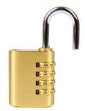 有号码锁的挂锁 免版税库存图片