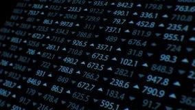 有各种各样的股票的增长的和下降的率的高详细的屏幕在大的 库存例证