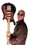 有吉他的新人 免版税库存照片