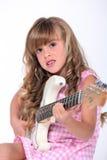 有吉他的女孩 库存照片