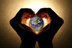 有同情心的地球 库存图片