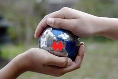 有同情心的地球 免版税库存图片