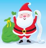 有名单和袋子的圣诞老人礼物 免版税图库摄影