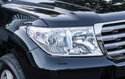 有名望的汽车特写镜头车灯  库存图片