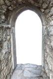 有后边门户开放主义和拷贝空间的石墙 库存照片