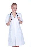 有听诊器的妇女医生 库存照片