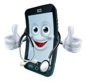 有听诊器的电话人 图库摄影