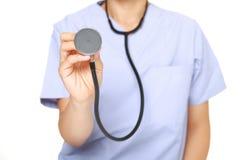 有听诊器的医生 免版税库存图片