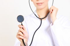 有听诊器的医生 库存照片