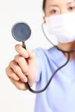 有听诊器的医生 库存图片