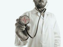 有听诊器的医生 免版税图库摄影