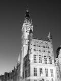 有启发性城镇厅在历史中心 免版税库存照片