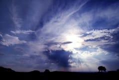 有启发性天空 免版税库存图片