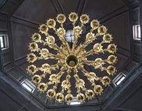 有启发性灯阿雅克修大教堂 免版税库存图片