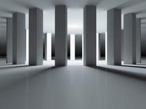 有启发性的柱廊在周围 免版税库存图片