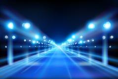 有启发性街道 城市在晚上 也corel凹道例证向量 库存例证