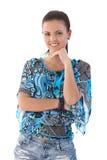 有吸引力女孩微笑 免版税图库摄影