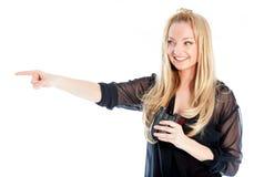 有吸引力白种人白肤金发在30岁中 库存图片