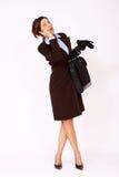 有吸引力的企业纵向妇女年轻人 免版税库存照片