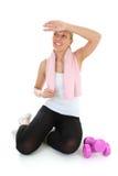 有吸引力的体操松弛妇女 库存图片