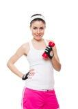有吸引力的健身女孩workingout 免版税图库摄影