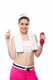 有吸引力的健身女孩workingout 免版税库存图片