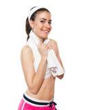 有吸引力的健身女孩workingout 免版税库存照片