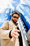 有吸引力的大厦挂名负责人现代年轻&# 库存图片