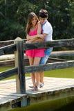 有吸引力的夫妇在乡下 免版税库存图片
