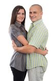 有吸引力的夫妇查出的空白年轻人 库存图片