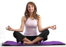 有吸引力的女子瑜伽 库存图片