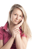 有吸引力的女孩年轻人 库存图片