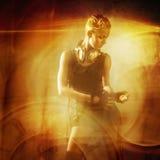 有吸引力的女孩废物蒸汽 免版税图库摄影
