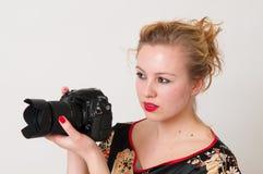 有吸引力的女孩纵向 免版税库存照片