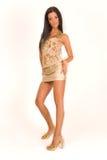 有吸引力的女孩超短裙 免版税库存图片