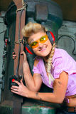 有吸引力的女孩铁匠铺 免版税库存照片