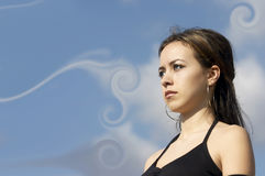 有吸引力的女实业家年轻人 图库摄影