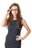 有吸引力的女实业家礼服典雅的年轻&# 免版税库存图片