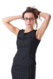有吸引力的女实业家礼服典雅的年轻&# 免版税库存照片