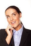 有吸引力的女实业家计划她的方法 免版税库存图片