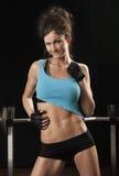 有吸引力的女性健身设计 免版税库存图片