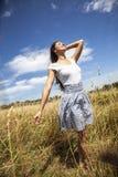 有吸引力的女性模型本质上 库存照片