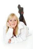 有吸引力的妇女年轻人 免版税图库摄影