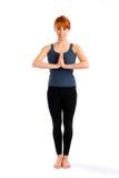 有吸引力的姿势常设女子瑜伽 免版税图库摄影