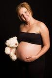 有吸引力的孕妇年轻人 免版税图库摄影