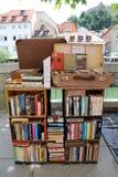 有吸引力的小的书店,卢布尔雅那 库存照片